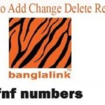 How to add/remove/check Banglalink fnf numbers