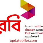 How to add/remove/check Robi fnf and Super fnf numbers