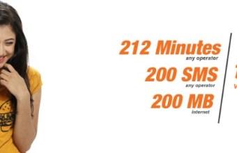 Banglalink 123Tk Bundle Offer 212 Minute, 200SMS & 200MB Internet