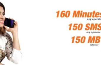 Banglalink 93Tk Bundle Offer 160 Minute, 150SMS & 150MB Internet