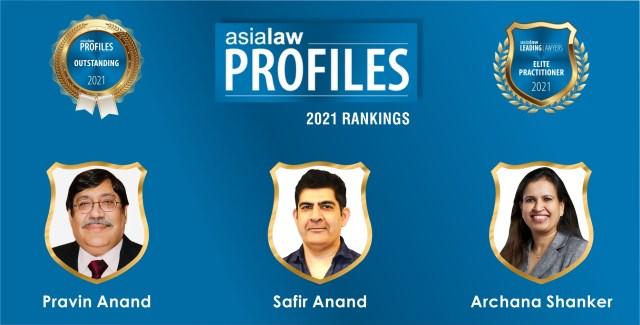 Asialaw Profiles 2021 Rankings