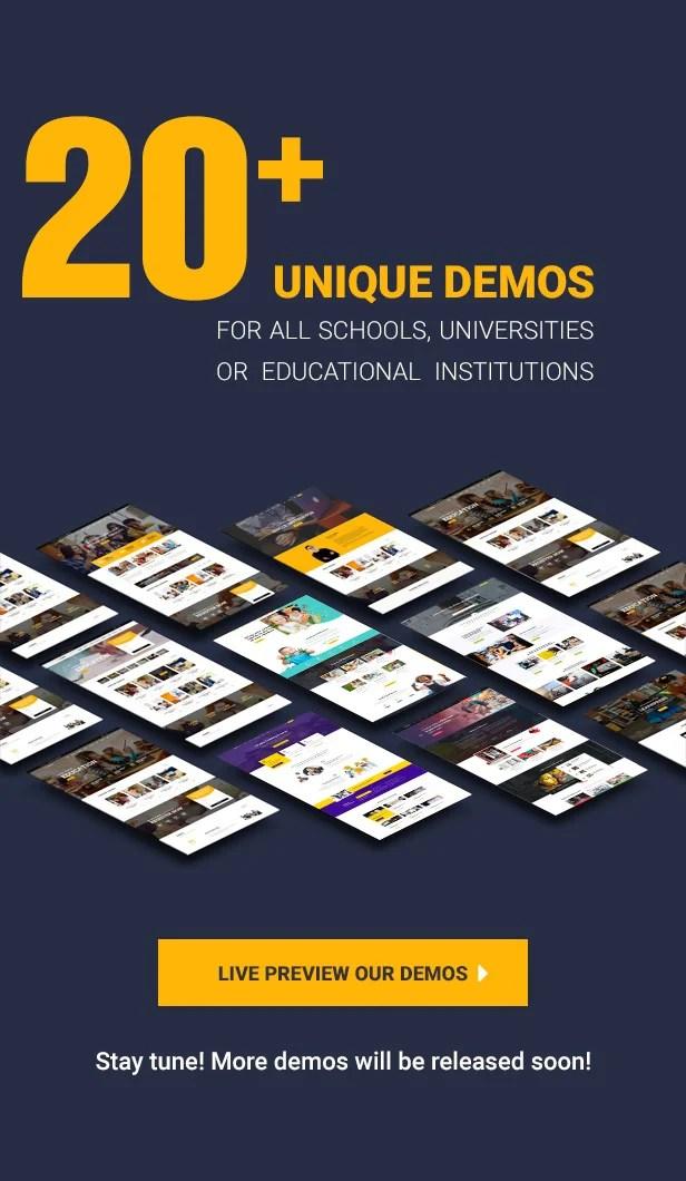 Education WordPress theme - Our demos