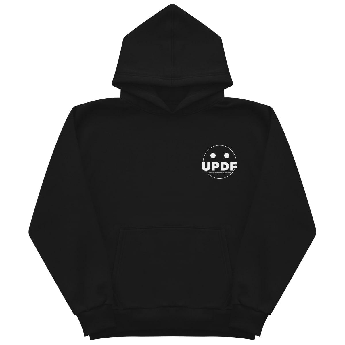 Black logo hoodie Updf