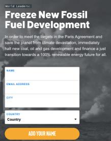 Petició de l'organització per mantenir informat al ciutadà