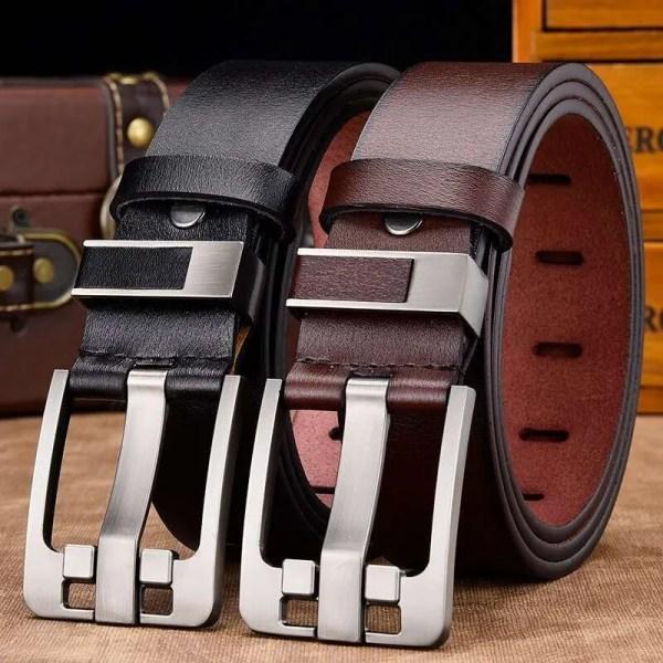 Men's Genuine Cowhide Leather Belt 3