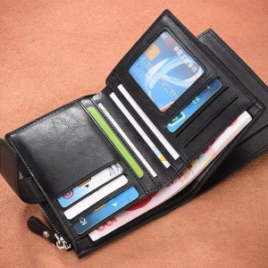Vintage Men PU Cowhide Leather Multi-Functional Wallet