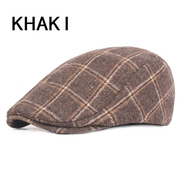 Spring Autumn Hats For Men in Casual Plaid Cotton 9