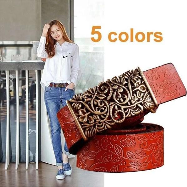 Women Fashion Luxury Genuine Top Quality Leather Belt 2