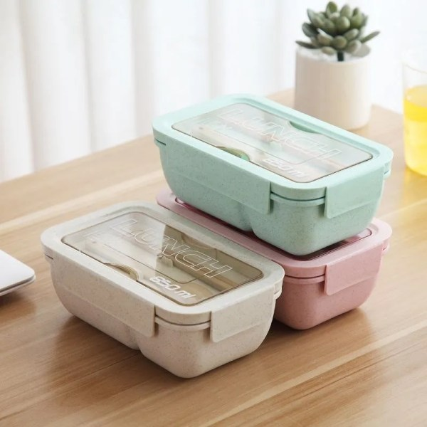850 ml Wheat Straw Lunch Box Dinnerware Food Storage Container 1