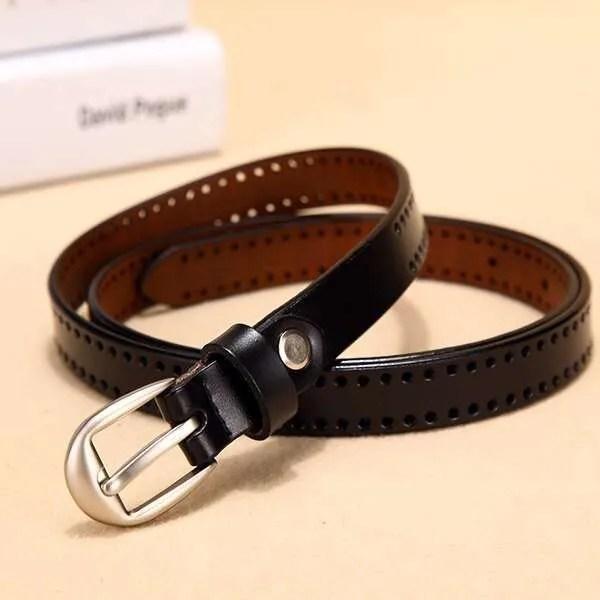 New Pin Buckle Women Fashion Genuine Leather Belt 9
