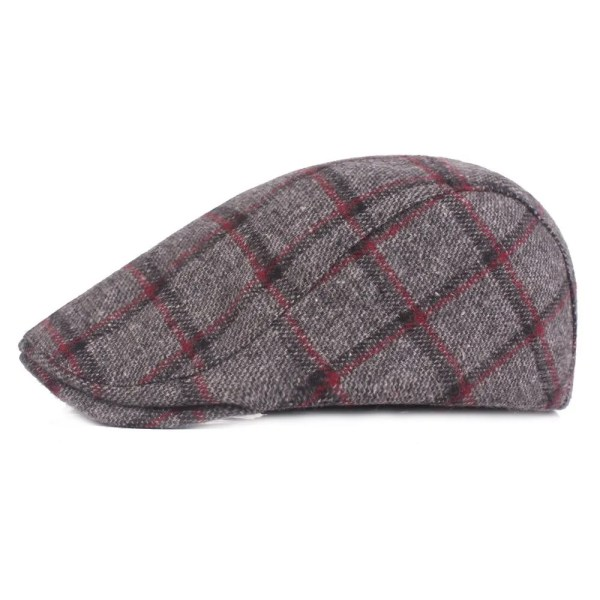 Spring Autumn Hats For Men in Casual Plaid Cotton 2