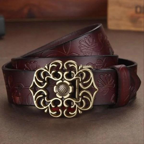Top Quality Women Genuine Cowskin Belt 2
