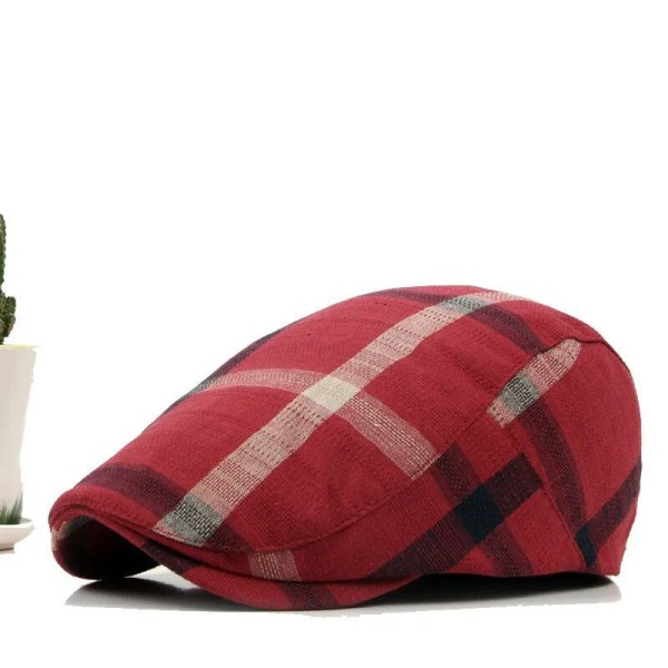 Classic England Style Plaid Berets Caps for Men and Women 4