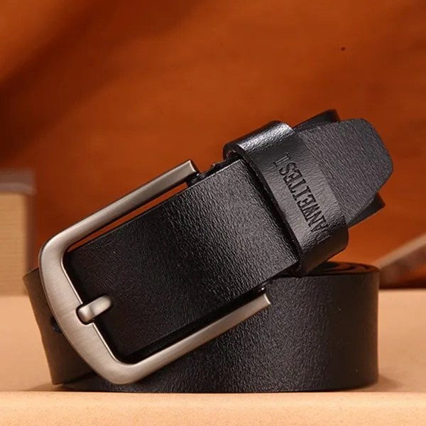 Men's Genuine Cow Leather Luxury Strap Belt with Pin Buckle 12