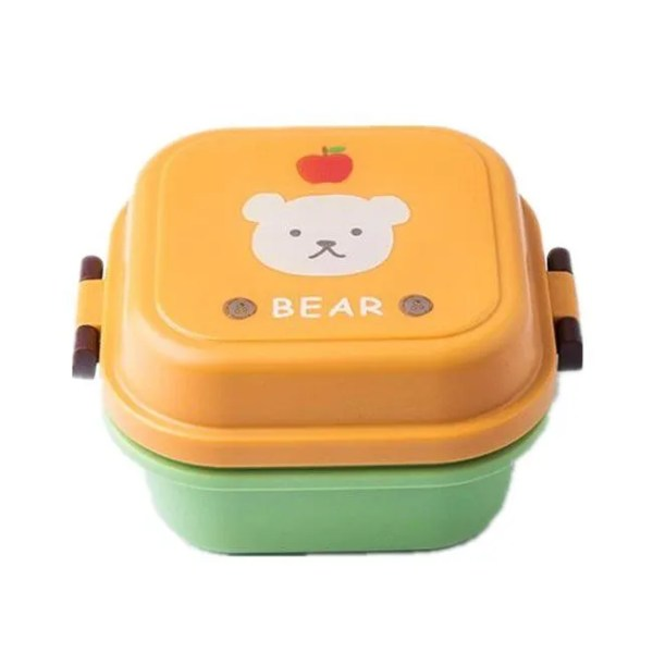 Children Cartoon Style Healthy Plastic Microwave Lunch Box 8