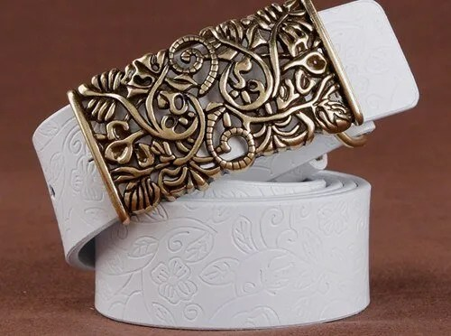 Hand Woven Real Leather Women Casual Belt 9