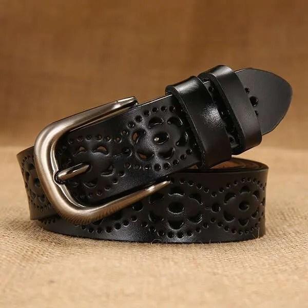 Genuine Casual Designer Leather Belt for Women 10