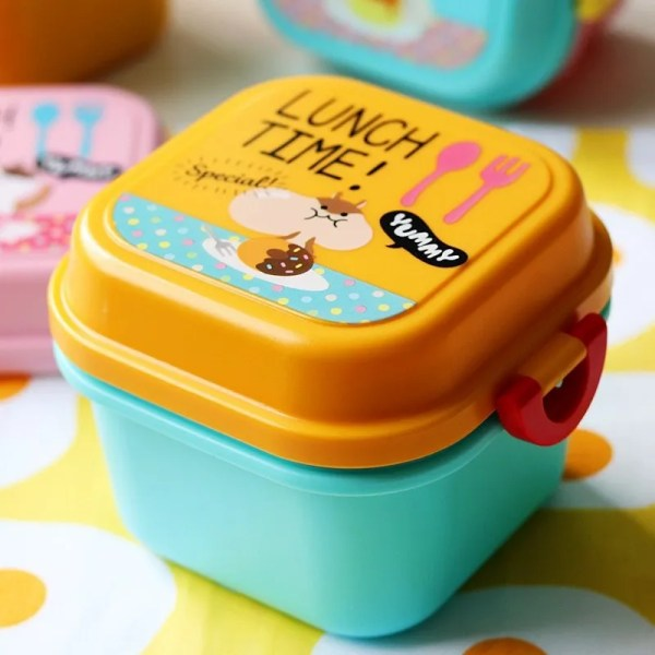 Children Cartoon Style Healthy Plastic Microwave Lunch Box 1