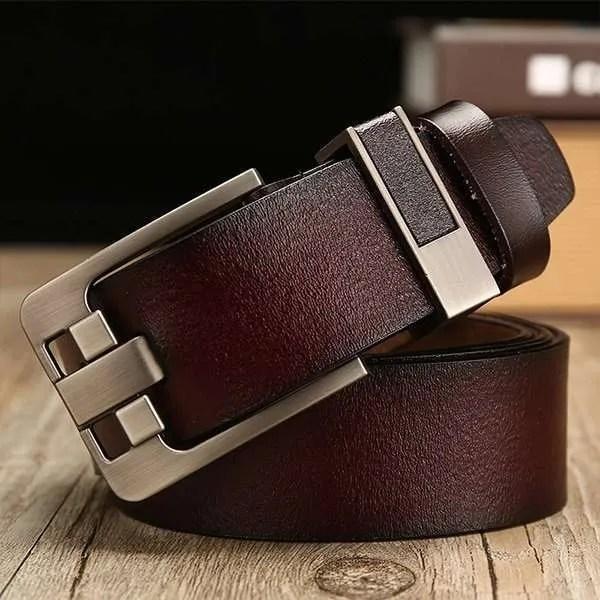 Men's Genuine Cowhide Leather Belt 9