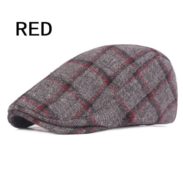 Spring Autumn Hats For Men in Casual Plaid Cotton 7