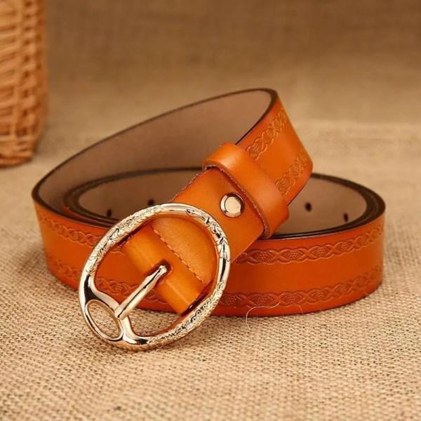 Women Designer Brand Luxury Leather Belt 3