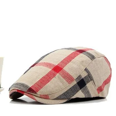 Classic England Style Plaid Berets Caps for Men and Women 8