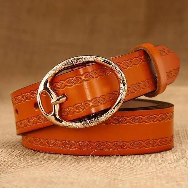 Women Designer Brand Luxury Leather Belt 9