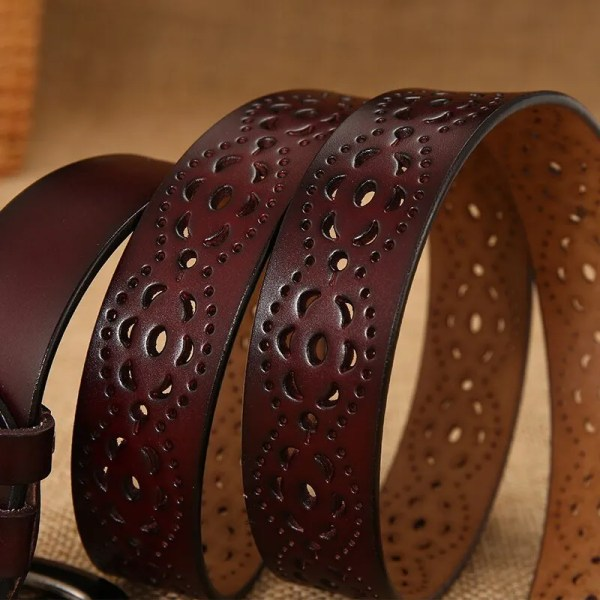 New Women Fashion Wide Genuine Leather Belt for Jeans 6