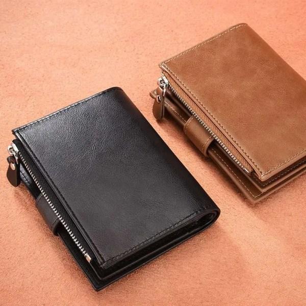 Vintage Men PU Cowhide Leather Multi-Functional Wallet 3