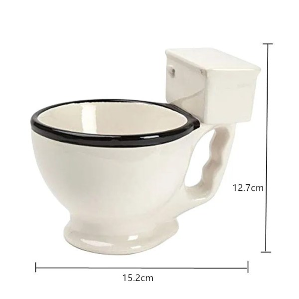 Novelty Toilet Ceramic Mug 300 ml 5