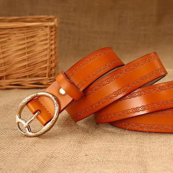 Women Designer Brand Luxury Leather Belt 4