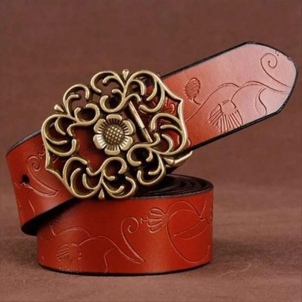 Top Quality Women Genuine Cowskin Belt 3