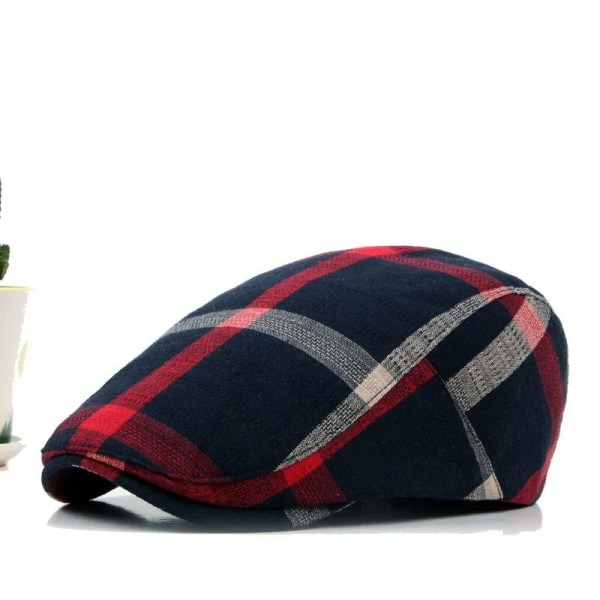 Classic England Style Plaid Berets Caps for Men and Women 3