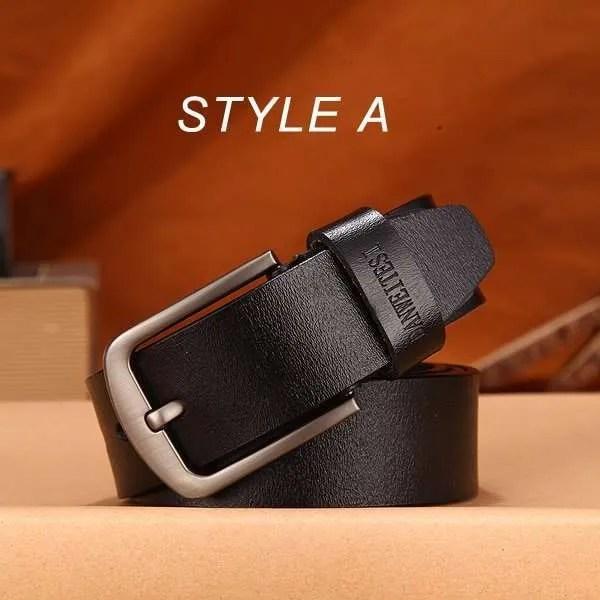 Men Genuine Leather Jeans Belt 11