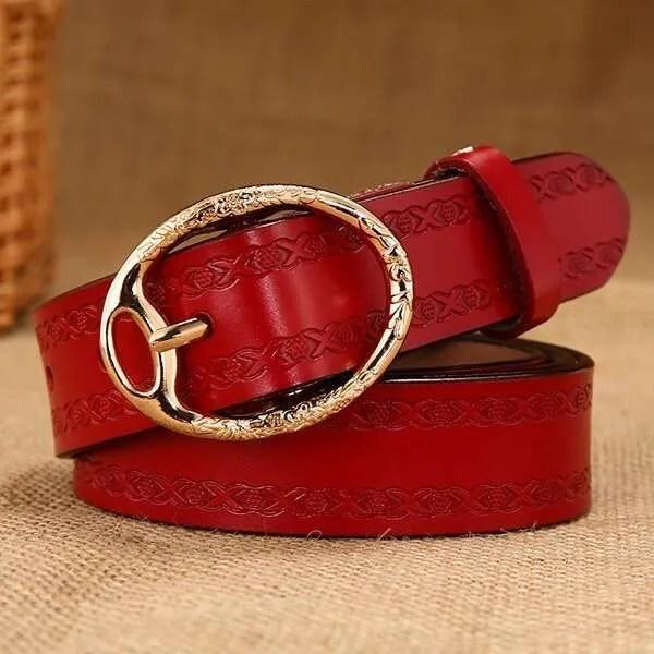 Women Designer Brand Luxury Leather Belt 8