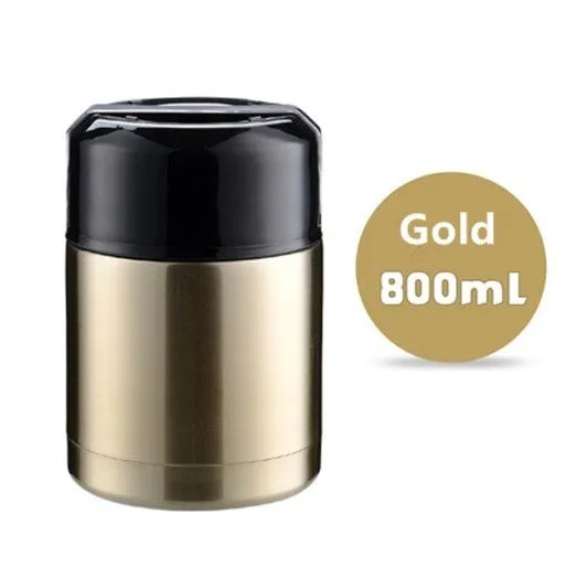 Large Capacity 600ML/800ML/1000ML Thermos Lunch Boxes Portable Stainless Steel 14