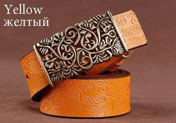 Women Fashion Luxury Genuine Top Quality Leather Belt 9