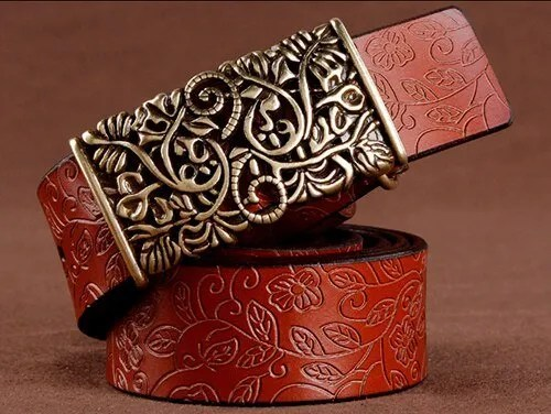 Hand Woven Real Leather Women Casual Belt 10