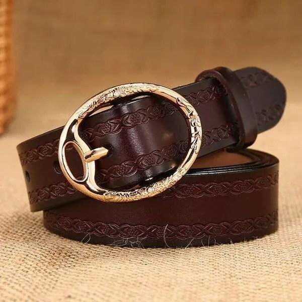 Women Designer Brand Luxury Leather Belt 10