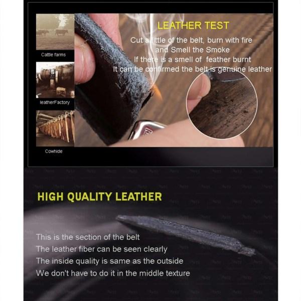Men Top Quality Genuine Leather Belt 5