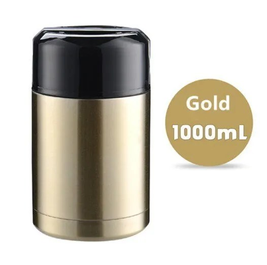 Large Capacity 600ML/800ML/1000ML Thermos Lunch Boxes Portable Stainless Steel 18