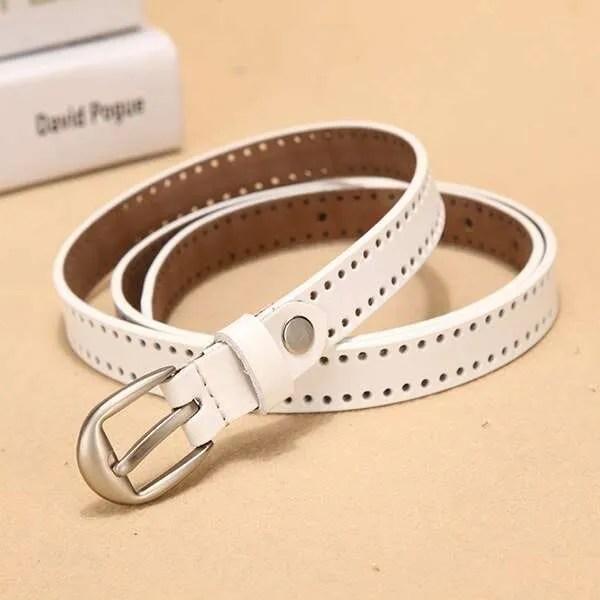 New Pin Buckle Women Fashion Genuine Leather Belt 11