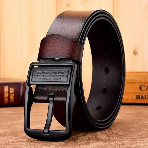 Men's Genuine Leather Belt with Luxury Pin Buckle 5