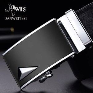 Men Luxury Leather Belt with Automatic Buckle