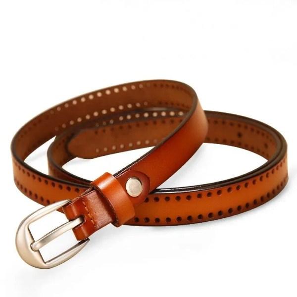 New Pin Buckle Women Fashion Genuine Leather Belt 1