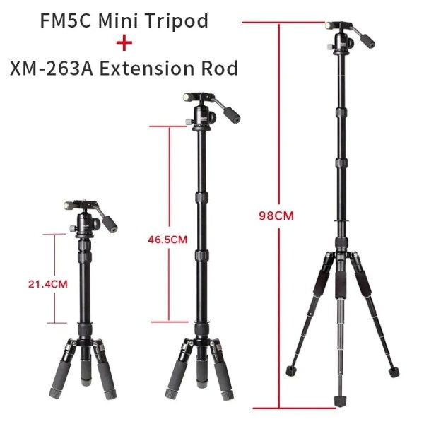 Mini Aluminum Stable Tabletop Desktop Tripod 2