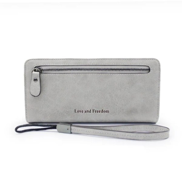 Women Fashion PU Leather Long Wallet 7