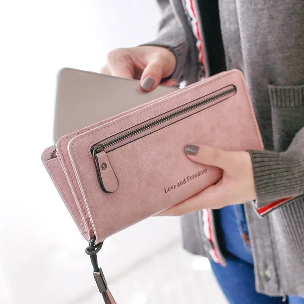 Women Fashion PU Leather Long Wallet 1