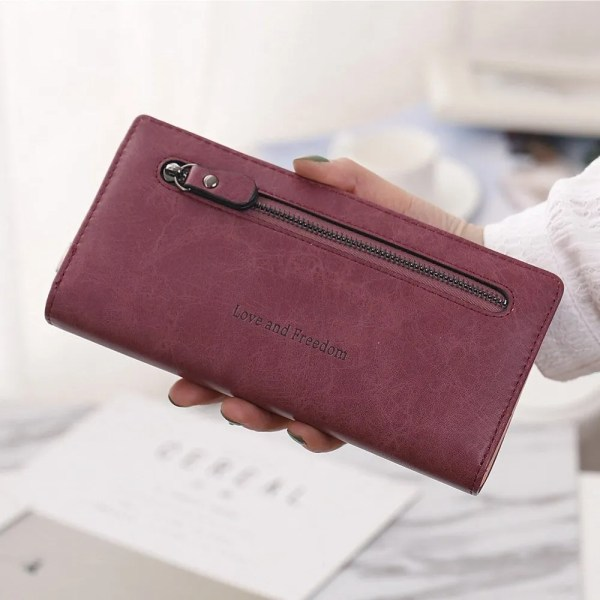 Women Fashion PU Leather Long Wallet 5