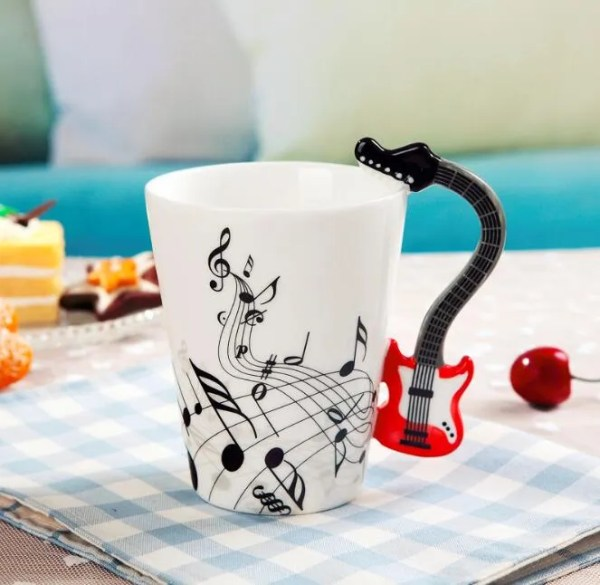 Musical Instruments Style Novelty Ceramic Mugs 13